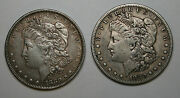 1880  And 1880- S Morgan Silver Dollars Coin / 2 Coins Possible Overstamp
