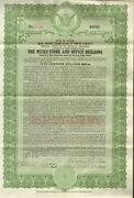 Wicks Store And Office 1924 Chicago Illinois Real Estate Gold Bond Certificate