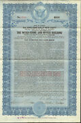Wicks Store And Office Building 1924 Chicago Illinois Gold Bond Certificate
