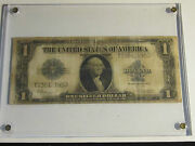 U.s. 1923 Silver Certificate Blue Seal Note - Framed In Fair Condition Tub M