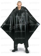 100 Latex Rubber Poncho Cape Robe With Hood Catsuit Bodysuit Cloak Gothic Hot