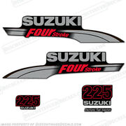 Suzuki 225hp Fourstroke Outboard Engine Decal Kit Df225 Replacement Decals