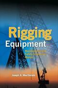 Rigging Equipment Maintenance And Safety Inspection Manual Maintenance And Safet
