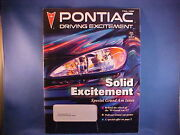 Pontiac Driving Excitement Fall 1998 From Private Estate Collection--mint