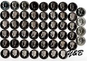 1964 - 2015 S Proof Kennedy Half Dollar Complete Set Include Silver Proof ,sms