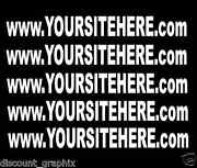 Custom Personalized Website Web Address Decal Text Lettering Sticker 1510 25