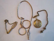 3 Gold Plated And Gold Filled Watch Fobs - 1.7 Oz - Vintage
