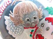 1-oz.999 Silver Christmas Wish Angel Engravable Colorized Gift Box Coin + Gold