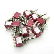 50×mini Toggle Switch Dpdt 3 Position On-off-on 4-pin 250v 2a 125v 6a Wholesale