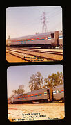 Lot Of Two Railroad Photos - Amtrak And039blue Groveand039 2501 Pullman Cars - 1974