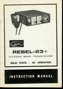 Original Factory Courier Rebel 23+ 23 Channel Cb Radio Owner's Manual