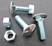 Stainless Steel Capped 7/16-14 X 1-1/4 Bumper Bolts W/hex Nuts 6
