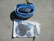 And03955-57 Chevy Original Style Liftclip Seat Belt Lt. Blue Front Or Rear W/hdwe.
