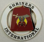 Shriners International Cut Out Car Emblem In White