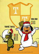 Hanna Barbera Style Guide Plate - Touche' Turtle And Dum Dum Color Guide