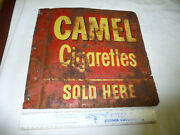 Original Tin Camel Cigarettes Sold Here-double Sided Sign