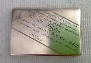 Extremely Rare Russian Silver Cigarette Case W/war Hero Dedication