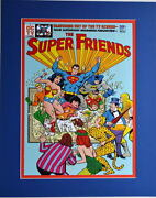 Super Friends 1 Cover Print Professionally Matted Dc Villains Wendy Marvin
