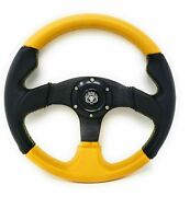 Boat Steering Wheel W/ Adapter 3 Spoke Boats With A 3/4 Tapered Key Marine