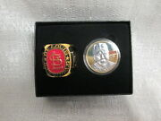 Mark Mcgwire Cardinals Highland Mint 24k Gold Plated Coin Team Ring Paperweight