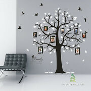 Wall Stickers Family Tree Photo Frame Quotes Art Murals Decals Vinyl Decor-p538