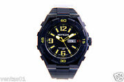 Sport Watch With Day And Date Heavy Duty Resin Band And Water Resistant 100m A3328