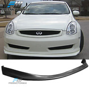 Fits 03-06 Infiniti G35 Coupe Nis Style Front Bumper Lip Spoiler Bodykit Pu