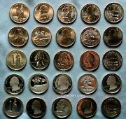 2013 Pdsss 25 Coin Atb Quarter Set 5 Each Of Bu Pds Clad And Silver Proofs