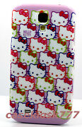 For Samsung Galaxy S4 Phone Case Cover Hello Kitty Kitten Pink Purple Faces S Iv