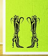 Wall Sticker Vinyl Decal Fashion Style Women's Shoes For Girls Shop Ig1881