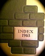 1963 Illinois State University College Yearbook Index Fine Used