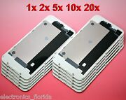 Lot White Iphone 4 Gsm Back Glass Rear Door Battery Case Cover Replacement