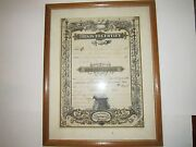 1880's Kansas Marriage Certificate - Authentic - Framed - 15 X 12 - Bb-2
