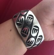Vintage Native American Indian Sterling Silver 925 Cuff And Bangle 5.5-6 Long