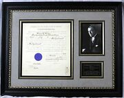 Woodrow Wilson - Document Signed As President Ds Signature Autograph Framed