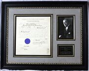Woodrow Wilson - Document Signed As President Ds, Signature, Autograph, Framed
