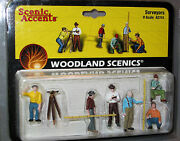 Woodland Scenics Figures O Scale A2741 Surveyors Train People Retired Wds2741