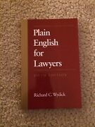 Plain English For Lawyers By Richard C. Wydick 2005, Paperback
