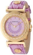 Versace Womenand039s P5q81d702 S702 Vanitas Diamonds Rose Gold Ion-plated Watch