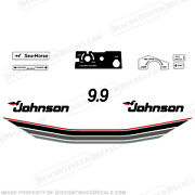 Johnson 1985 9.9hp Outboard Decal Kit - Discontinued Decal Reproductions 9.9 Hp