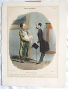 Scarce Honore Daumier French 1808andndash1879 Le Mari Du Bas Bleu First State 1839-42