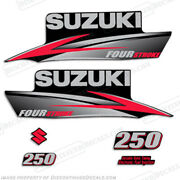 Suzuki 250hp Fourstroke 2010-2013 Outboard Engine Decal Kit Df250 Replacement