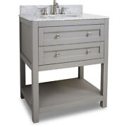 Jeffrey Alexander Vanity With Preassembled Top And Bowl Van103-30-t New - Qty 1