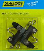 1 2/pk Outrigger Clip Release Clips Trolling Downrigger Fishing Seachoice