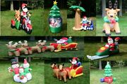 9 Style Image Christmas Lighted Airblown Inflatable Santa Outdoor 10and039 6and039 5and039 4and039