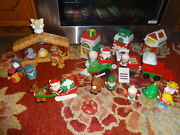 Fisher Price Little People Christmas Nativity Santa Claus Lot