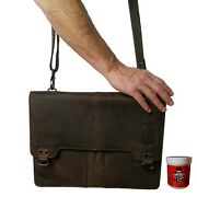 Briefcases - Shoulderbag Curie Made Of Brown Buffalo Leather - Baron Of Maltzahn
