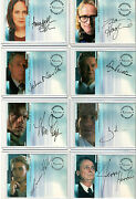 X-files Seasons Connections And Believe Autograph And Pieceworks Card Selection Nm