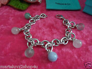 And Co. Silver And Multi Dangle Gemstone Fascination Bracelet Rare Retired
