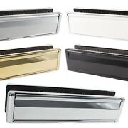 12 Inch Letter Box Plate Set Affinity Sprung Heavy Duty Metal Upvc Wooden Doors
